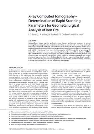 cover 3rd ausimm international geometallurgy conference