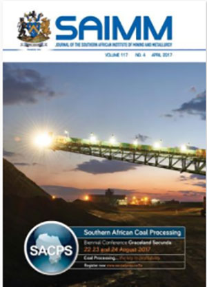 cover south african institute of mining and metallurgy